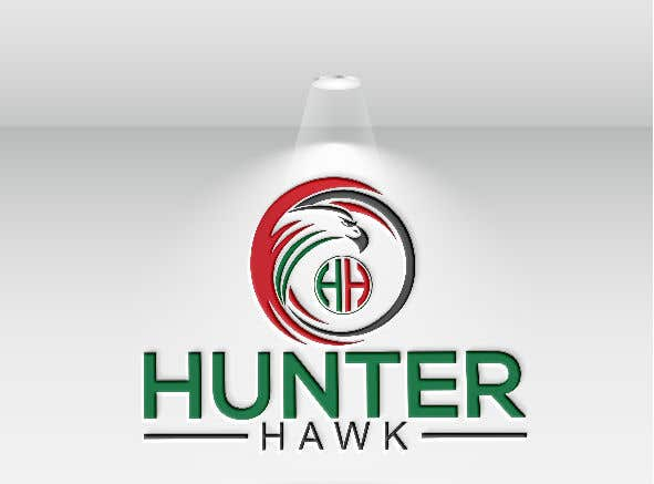 Kilpailutyö #                                        95                                      kilpailussa                                         Logo for 'HUNTER HAWK'