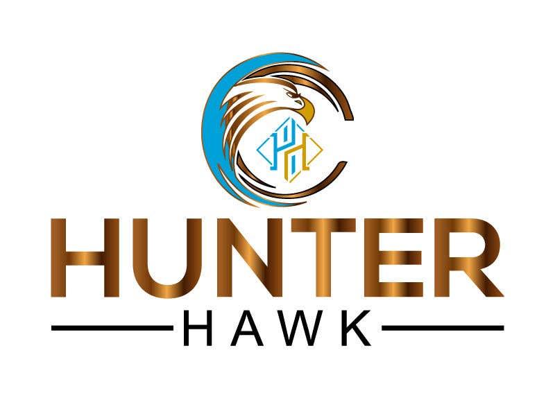 Kilpailutyö #                                        357                                      kilpailussa                                         Logo for 'HUNTER HAWK'