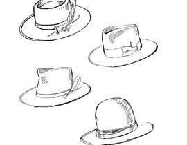 Nro 21 kilpailuun Simple Hat Sketches käyttäjältä NatalieNikkol