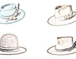 Nro 10 kilpailuun Simple Hat Sketches käyttäjältä CezaraMihaela