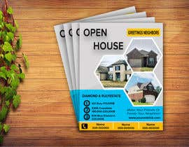 #17 для Create an open house flyer.  I attached the information and layout I want.  I also attached the 3 pictured I would like to use as well. от kabir3400
