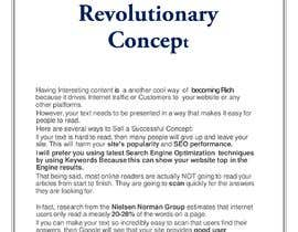 Nro 11 kilpailuun I´m selling a powerfull and revolucionary concept that I have created, a privileged position in internet. käyttäjältä Suryasugano6