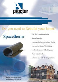 #14 for Advertisement Design for Spacetherm (Construction) by salamhadi