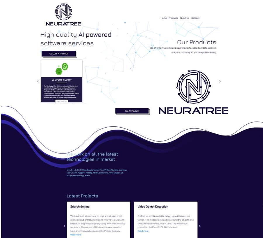 Penyertaan Peraduan #                                        193                                      untuk                                         Logo and Icon Design for a Technology Website (Neuratree) : Original logo