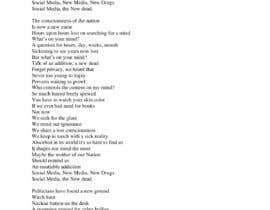 Nro 21 kilpailuun rewrite song lyrics to make it modern political or social käyttäjältä udemepaul