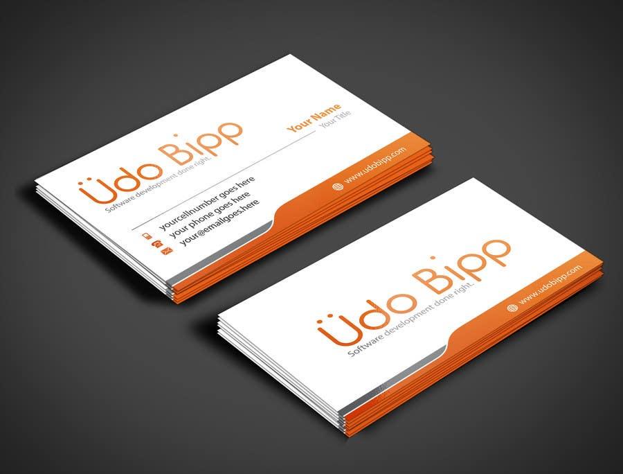 Penyertaan Peraduan #52 untuk Design some Business Cards for Udo Bipp