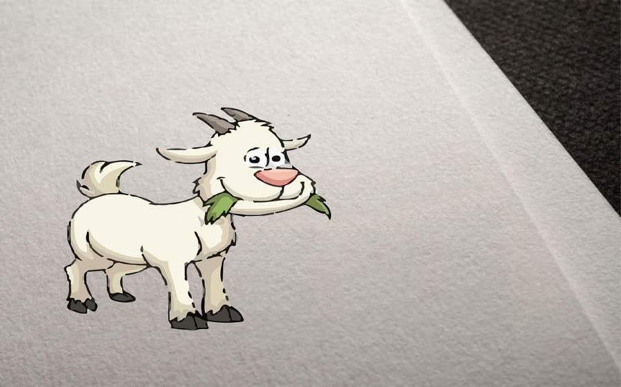 Bài tham dự cuộc thi #                                        2                                      cho                                         Cartoon goat eating christmas lights