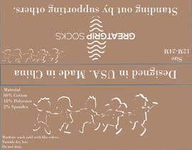Nro 29 kilpailuun PACKAGING DESIGN for children's socks käyttäjältä aventi22