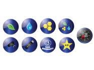 8 ICONS / BADGES için Graphic Design5 No.lu Yarışma Girdisi