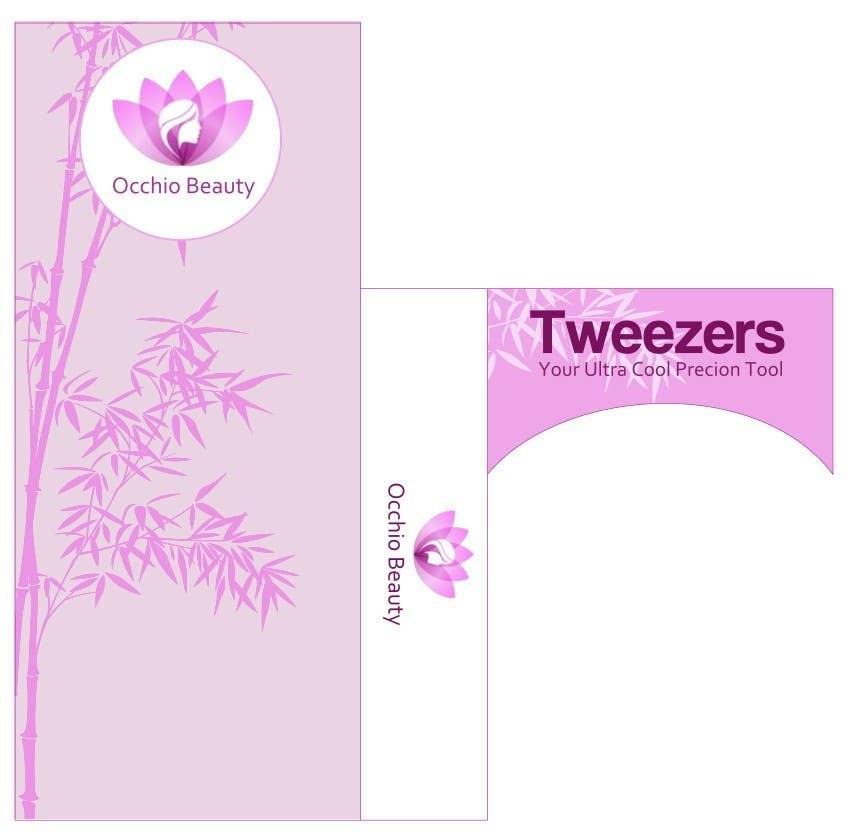Penyertaan Peraduan #27 untuk Create Print and Packaging Designs for Occhio Beauty - Tweezers Box
