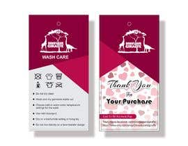 #25 cho Create Care Tag & Thank you for purchase tag for Merchandise bởi arupwork2017