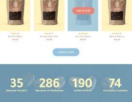 #33 cho landing page design for a coffee and tea online store bởi Alluvion