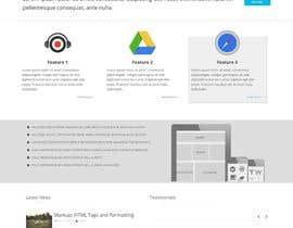 #20 untuk Flat web mockup design oleh deepakinventor