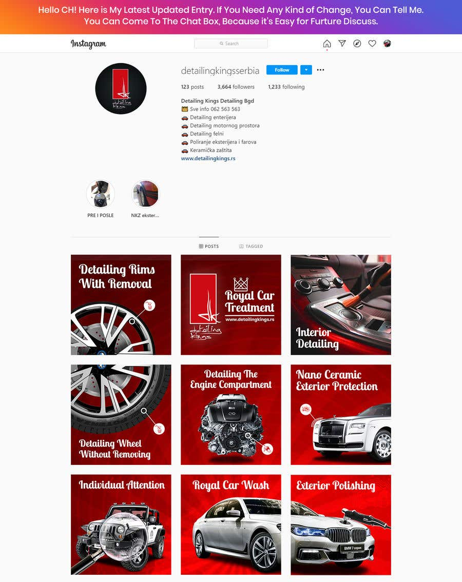 Contest Entry #                                        36                                      for                                         Design an Instagram puzzle template + brand kit for a Car Detailing business