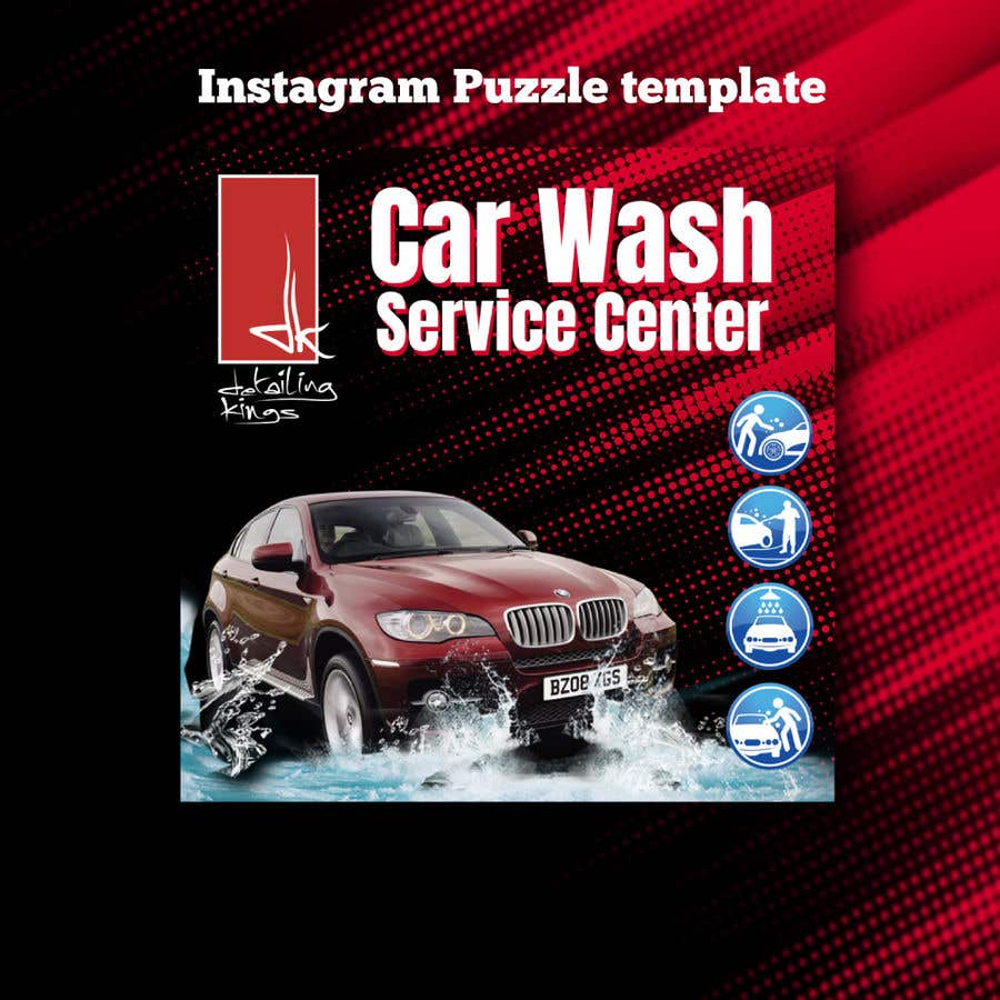 Contest Entry #                                        2                                      for                                         Design an Instagram puzzle template + brand kit for a Car Detailing business