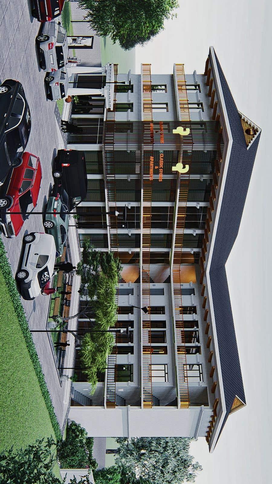 Bài tham dự cuộc thi #                                        18                                      cho                                         3 D Elevation for a Commercial Building
