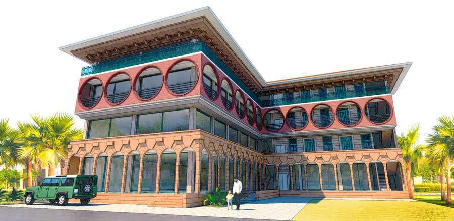 Bài tham dự cuộc thi #                                        28                                      cho                                         3 D Elevation for a Commercial Building