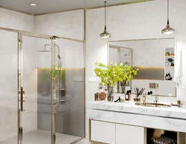 #60 para Master bathroom design por SarramCG
