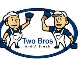 #27 для Logo for Two Bros And A Brush от mostafashedeed