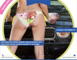 Nro 36 kilpailuun Create a square shaped flyer for a Bikini Car wash käyttäjältä i2igraphic