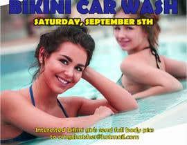 Nro 52 kilpailuun Create a square shaped flyer for a Bikini Car wash käyttäjältä affanfa