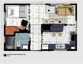 #98 for Design room layout for two 300 sq ft studio apartments by jakerhassan64