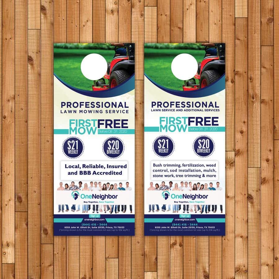 Proposition n°                                        85                                      du concours                                         Design Door Hanger Advertisement  - 05/08/2020 16:56 EDT