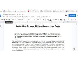 #10 для Write A Post About Fake Coronavirus Tests от rajuchalna