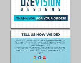 Nro 10 kilpailuun Create a Professional Post Card Designs for Reviews käyttäjältä miloroy13