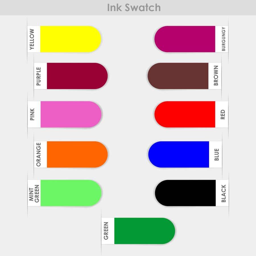 Kilpailutyö #                                        106                                      kilpailussa                                         Ink Swatch Color Graphic