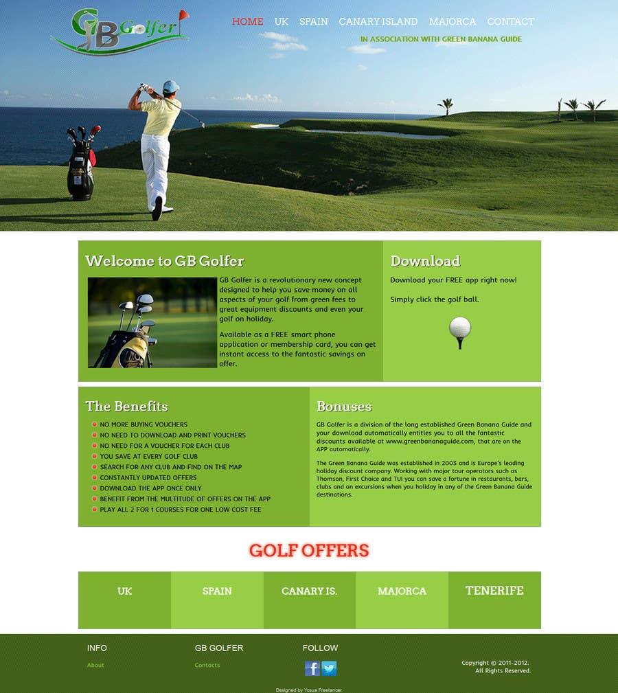 Konkurrenceindlæg #                                        4                                      for                                         Wordpress Theme Design for GB Golfer