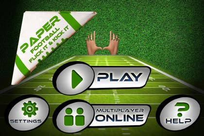 #90 untuk Graphic Design - Give our Paper Football Game Menus a NEW LOOK! oleh logodesire