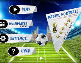 #124 cho Graphic Design - Give our Paper Football Game Menus a NEW LOOK! bởi DLS1