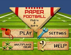 #120 cho Graphic Design - Give our Paper Football Game Menus a NEW LOOK! bởi M33illustrator