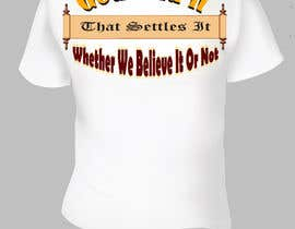 #17 pentru Scroll Design for back of White T-shirt de către aHaMaria