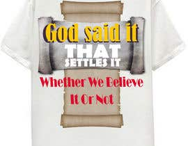 #21 pentru Scroll Design for back of White T-shirt de către aHaMaria