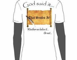 #5 pentru Scroll Design for back of White T-shirt de către JBMarvel1701