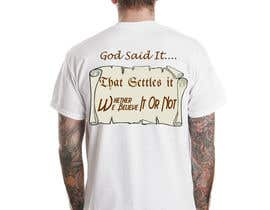 #43 pentru Scroll Design for back of White T-shirt de către jojohf