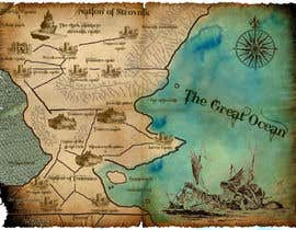 #21 para Design a fantasy map for my novel de sandrasreckovic