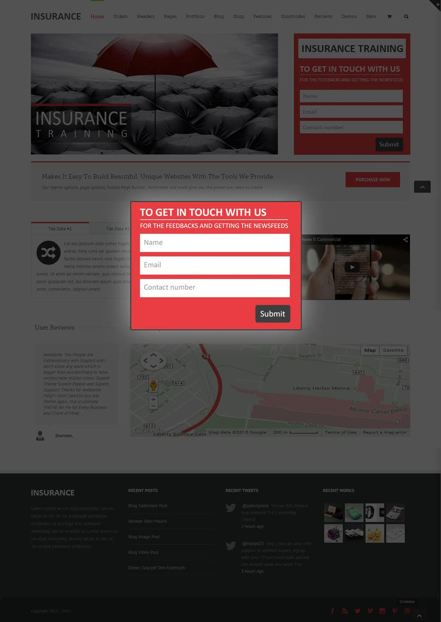 Contest Entry #4 for Design a Website Mockup for Landing Page