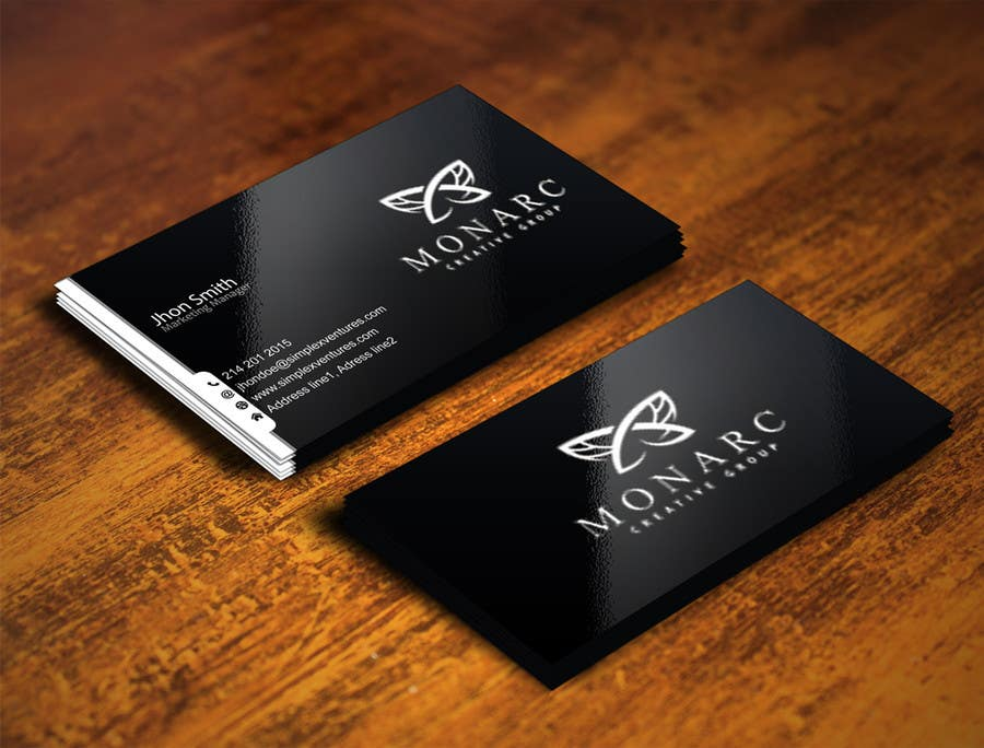 Design a leading edge business card for an architectural company ...
