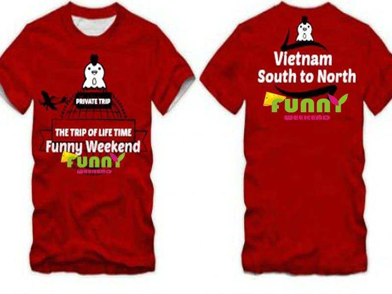 Kilpailutyö #20 kilpailussa Thiết kế T-Shirt for Funny Weekend