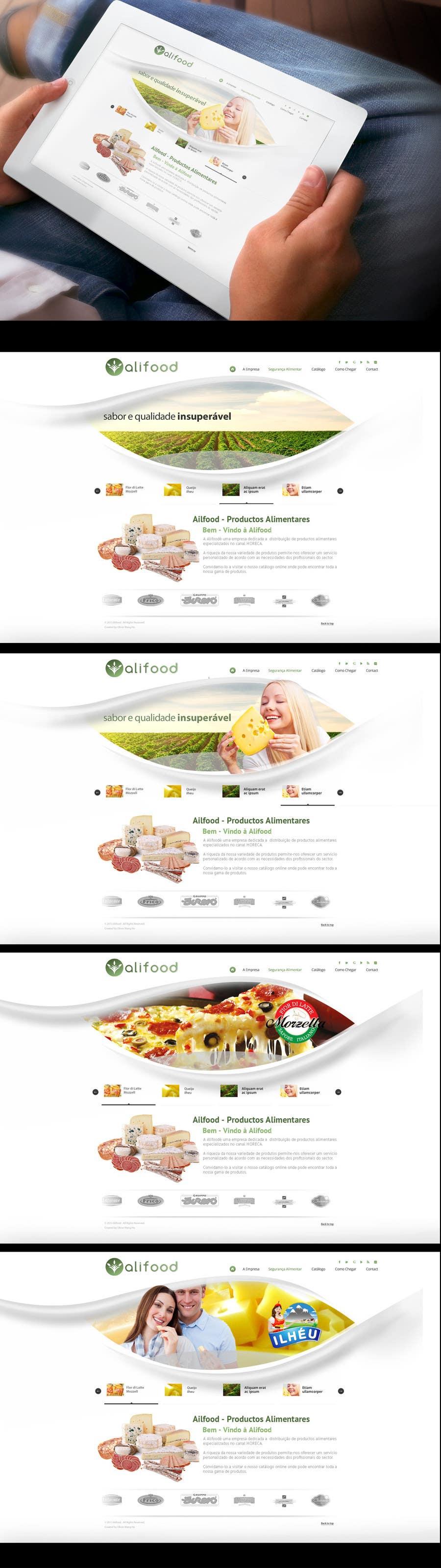 Bài tham dự cuộc thi #5 cho Website Design for www.alifood.pt
