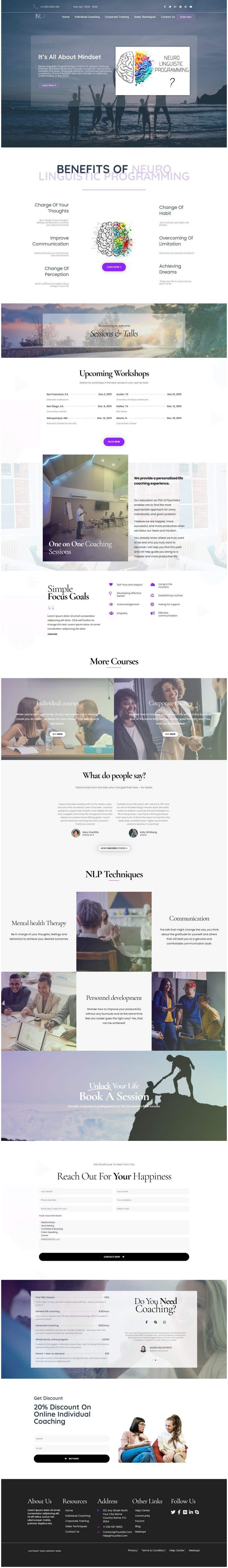 Penyertaan Peraduan #                                        27                                      untuk                                         design and build life coaching website
