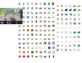 #3 dla Icons design for a GPS application przez AlejandroRkn
