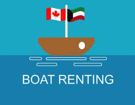 #10 for we are group of people who lived in kuwait, we are renting boats in Canada, we wanted a logo that is a boat with both flags of kuwait and canada (like shown in the picture), we will post it as 9 instagram photos and as the DP! please keep it very simple. af flyhy