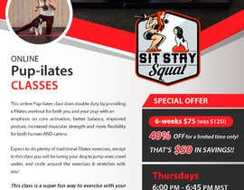 """#214 for Flyers for my dog training class """"Pup-ilates"""" by zeeshan066"""