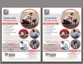 #245 untuk Flyer for my Canine Fitness Training Class oleh itsmonowar