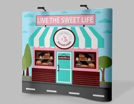 #122 para graphic design for a luxury bakery  27ft wall por alfasatrya