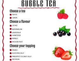 #113 cho Menu Bubble tea design bởi fatimaC09
